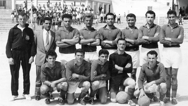 Marsa FC – 1955-56 Division Two league championship and cup winners.