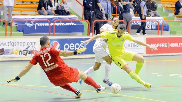 Luxol and Valletta were involved in a thrilling first-leg match. Luxol won 6-5. Photo: Joe Borg