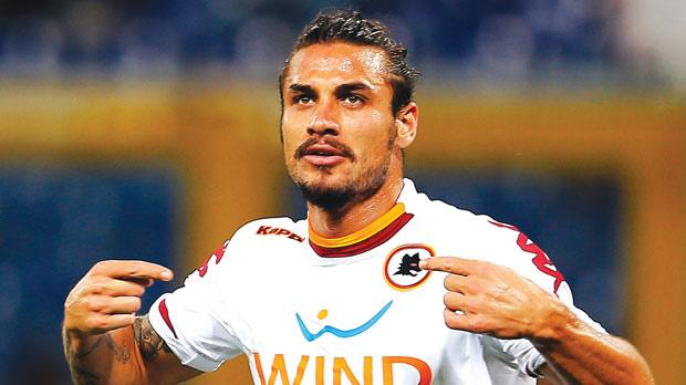 Pablo Osvaldo... two goals for Roma against Genoa.