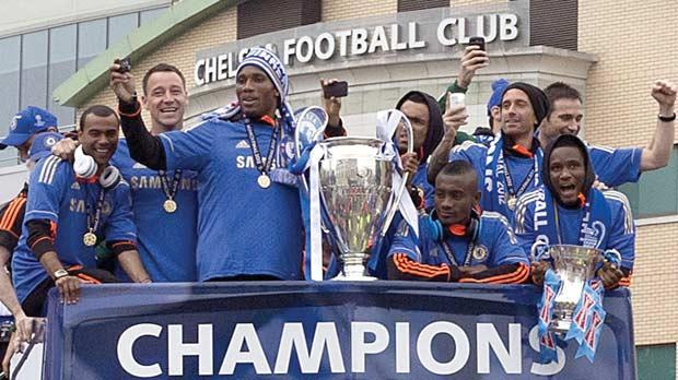 Chelsea Players Parade The Champions League Trophy And FA Cup In London Last Month