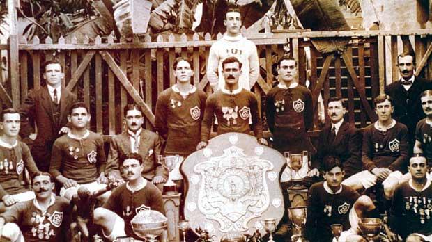 St George's FC, winners of the 1916-17 league championship after beating Sliema Wanderers 4-0 in the first ever decider.