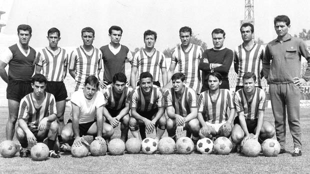 Sliema Wanderers train before the away match against Dinamo Bucharest in September 1964. Janos Bedl is standing to the right of the picture.