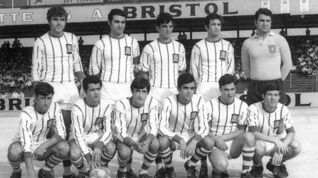Floriana 1969-70 champions: (Back row, left to right) Anton Camilleri, Alfred Debono, Charlie Farrugia, Frankie Micallef, Tony Borg. (Squatting) Salvu Borg, Charlie Galea, Ray Xuereb, Louis Arpa, Willie Vassallo, Hughie Caruana.