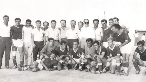 Birżebbuġa St Peters, winners of the Malta FA Third Division Cup in season 1960-61.