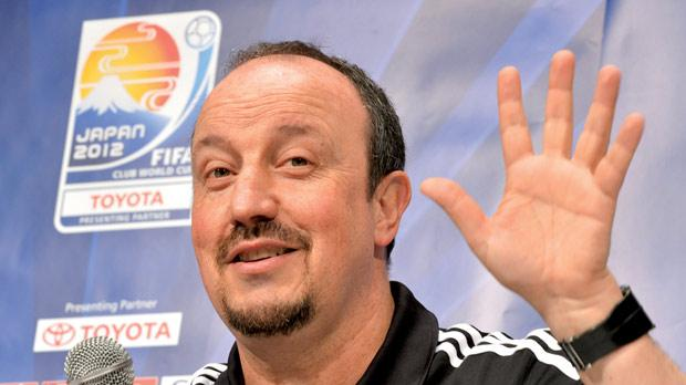 Rafael Benitez addressing the media in Japan, yesterday.