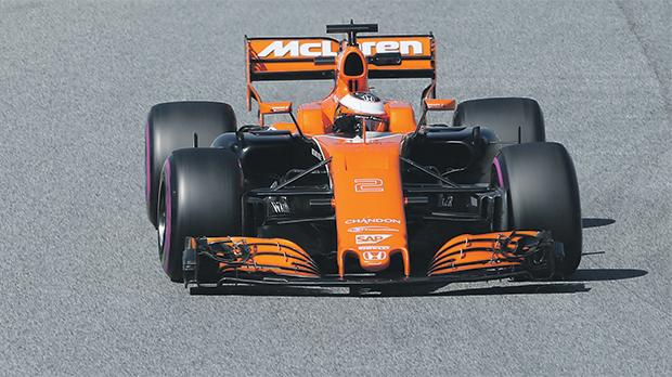 Stoffel Vandoorne during testing in Barcelona.