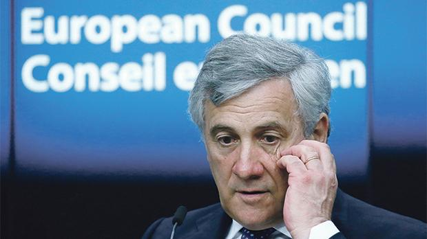 """Today we are trying to solve a problem of a few thousand people, but we need to have a strategy for millions of others"" – European Parliament President Antonio Tajani. Photo: Reuters"