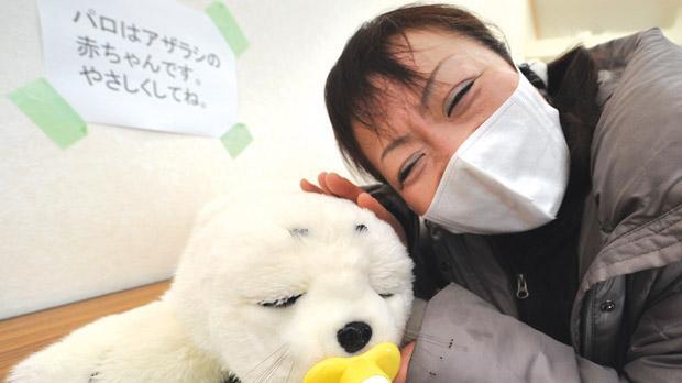 Tsuyako Kumagai, a 47-year-old housewife and a survivor of last year's tsunami disaster, close to Paro.