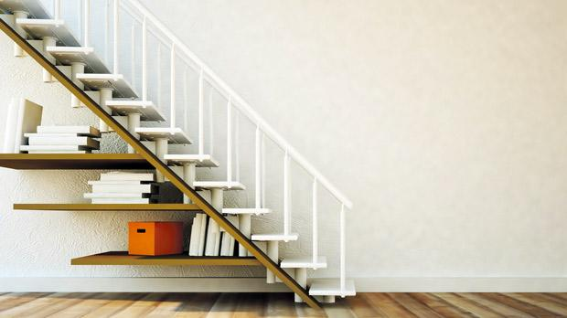 Find storage solutions in unused spaces, such as under the stairs.