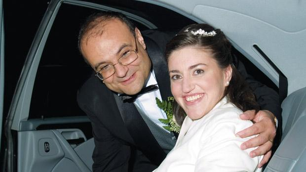 The day Vickie married John Gauci in July 2006.