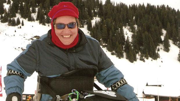 Skiing in Villars, Switzerland, in December 2008.