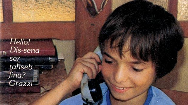 Lawrence Grech was the 'poster boy' of the home's 1985 almanac.