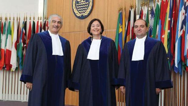 Prof. Attard (left) with other judges following their recent appointment to the Law of the Sea Tribunal.