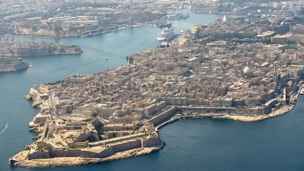 Valletta from the air. Photo: Matthew Mirabelli