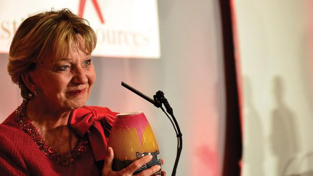 Helga Ellul after receiving an award from the Foundation for Human Resources Development. Photo: David Schembri