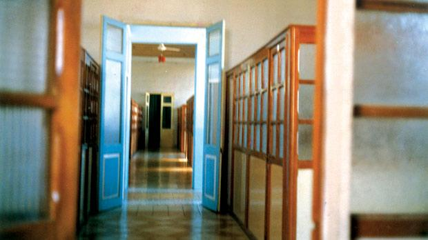 The corridor of shame... These are the sleeping quarters of the orphans at St Joseph Home.