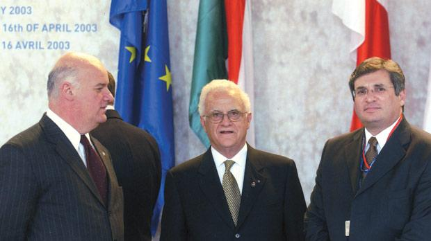 Joe Borg, Eddie Fenech Adami and Richard Cachia Caruana.