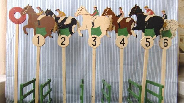 Horse Racing On Deck Fascinating Wooden Horse Racing Game