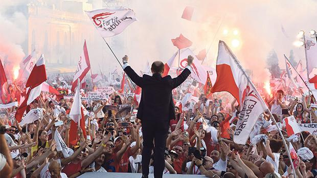 Since Joseph Muscat took over the Labour leadership his party has won eight different types of elections in a row. Photo: Alan Carville