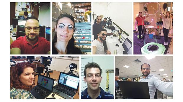 Selfies of Maltese researchers and science communicators.