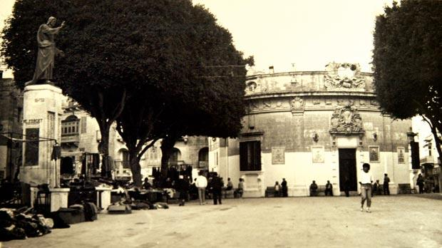 The Banca Giuratale – the seat of the Gozo Civic Council – dominating It-Tokk in Victoria in this photograph taken 50 years ago. Photo: National Archives Gozo