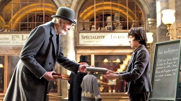 Christopher Lee and Asa Butterfield in Martin Scorsese's Hugo, tipped to win several nominations.