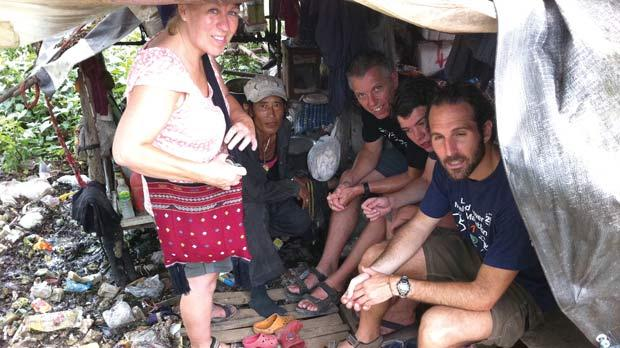 Inside a hut in Mae Sot's garbage village.
