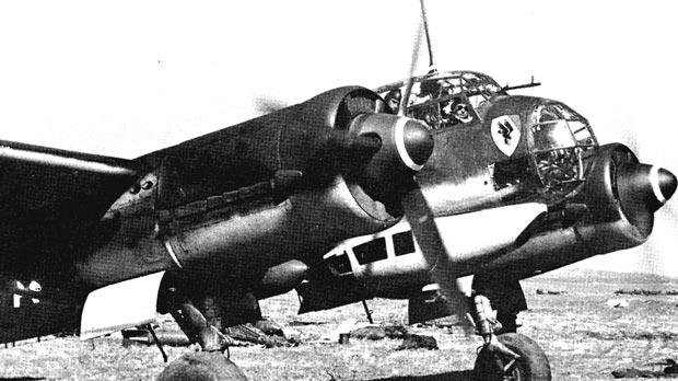 A Junkers Ju 88 A-4 of KG30 at a Sicilian airfield. The Luftwaffe returned to Sicily in December 1941.