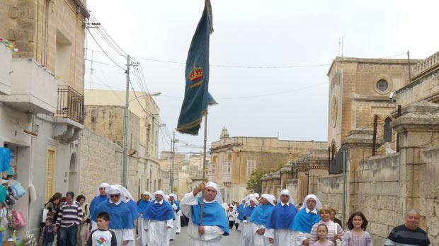 A confraternity during the procession.