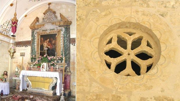 St Anne chapel, Qrendi. Right: An oculus window.