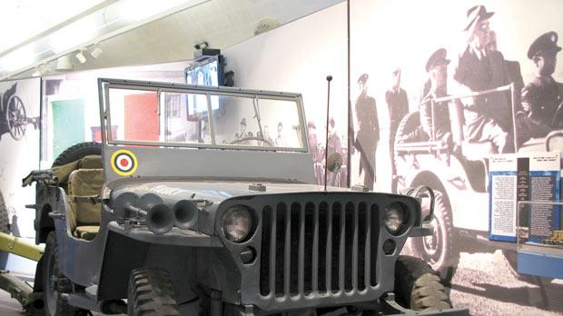 The Willys Jeep Husky used by General Dwight Eisenhower during the invasion operation – housed at the National War Museum.
