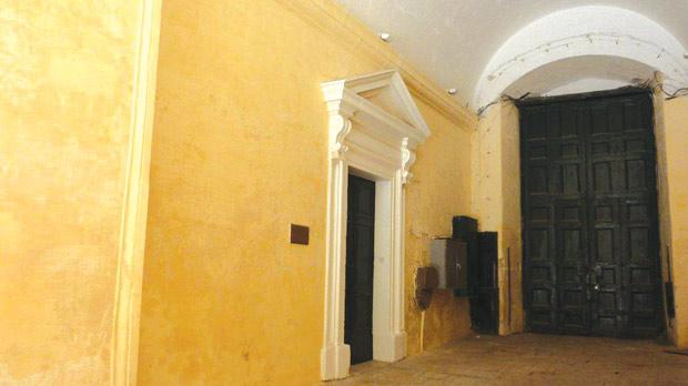 The door to the first Protestant chapel in Malta, on the ground floor of the Palace, Valletta, where George Dalzel and Margaret Semini were married.
