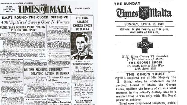 How the Times of Malta broke the news of the award.