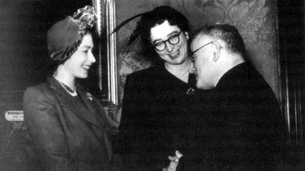 Princess Elizabeth with Mabel and Rev McLaughlin in Valletta.