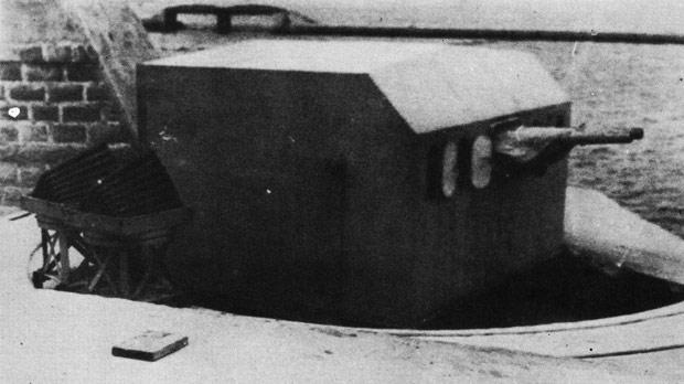 A six-pounder 10-cwt twin gun.