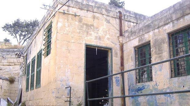 The room that was used as a mortuary at the former Central Hospital in Floriana.
