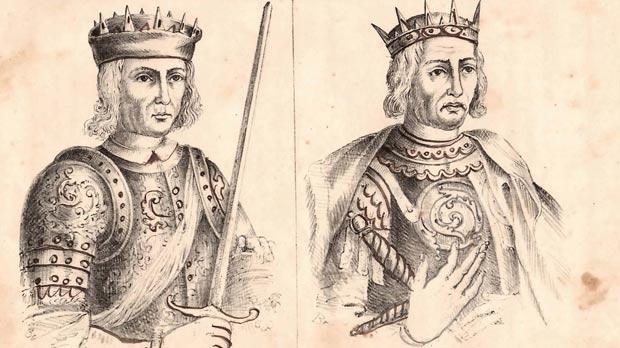 Il Conti Ruggiero (Count Roger). Right: Carlo I T'Angio.