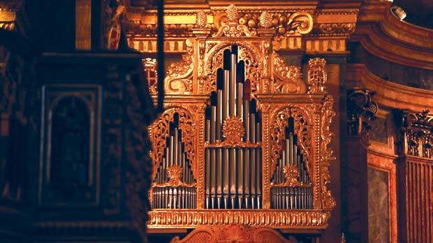 The organ at St John's Co-Cathedral.