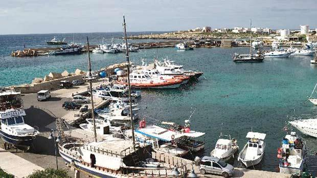 Lampedusa has a population of around 5,000, living mainly off fishing, agriculture and tourism.