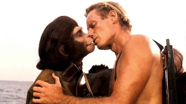 'I'll regret this in the morning'... Charlton Heston in the 1968 original Planet of the Apes.