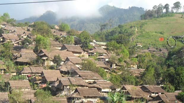 One of the many Burmese refugee camps in the Mae Sot area of Thailand.