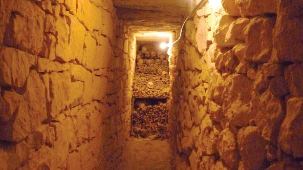 The third secret passage where the human bones were found.