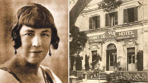 Portrait of Gladys Peto. Right: The Point de Vue Hotel in Rabat, which Peto found very satisfying.