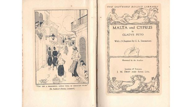 Title page of Malta and Cyprus, by Gladys Peto.