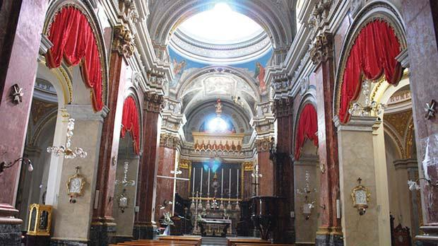 The reconstructed church of St Lawrence in Vittoriosa where Stefano Buonaccorsi and Isabella, Grand Master de Valette'secret daughter, were married.