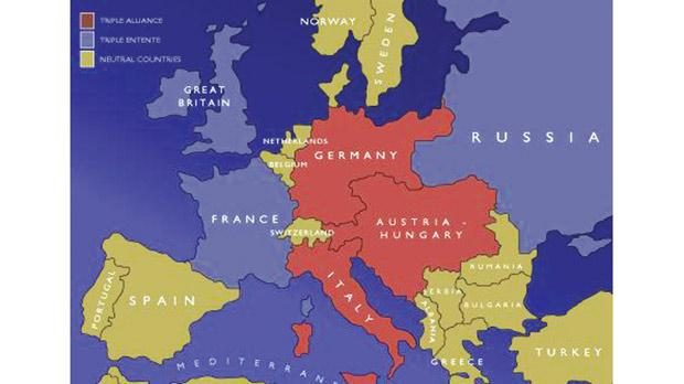 The European alliances, origins and outbreak of the war