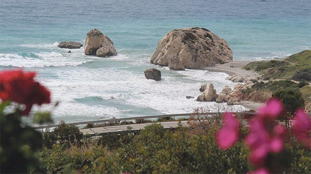 Petra Tou, or Aphrodite's Rock in Paphos.