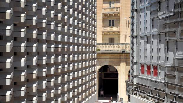 The old blends with the new at Valletta's City Gate project, which has raised concerns at Unesco. Photo: Matthew Mirabelli