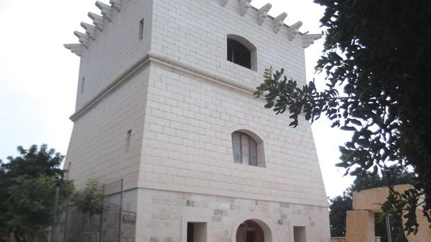 Another illegal structure at Ħal Farrug a replica of the de Redin tower built by the Knights.
