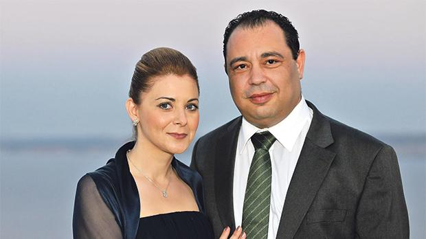 Deputy Police Commissioner Silvio Valletta with his wife, Gozo Minister Justyne Caruana.